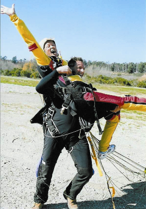 Skydiving Caregiver Loraine Yates