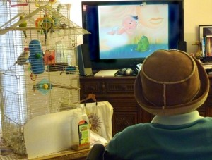 Carol Wright's mom watching Classical Baby DVD