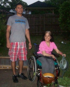 TCVs Caregiver of the Month - Nitin Samtani with Mom