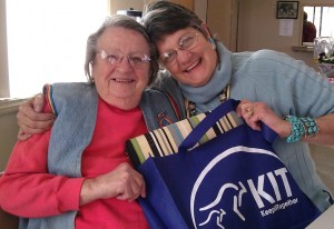Kathleen Parenteau, TCV Guest Reviewer with her mom, Colleen (left)