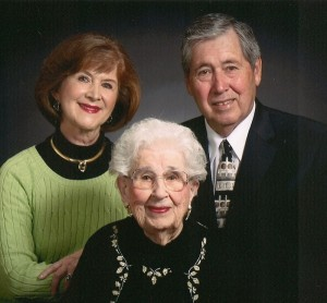 Caregiver of the Month Claire Abel with her husband Lyle and her mom