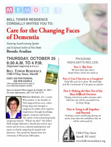 Care for the Changing Faces of Dementia Dementia - Bell Tower Residence